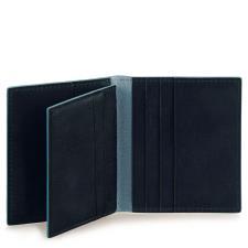 Piquadro Porta carte di credito 8 fessure Blue Square Nero