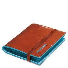 Piquadro Porta carte di credito tascabile Blue Square Arancio