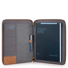 Piquadro Portablocco sottile formato A4 con chiusura a zip e porta penne P15P...