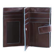 Piquadro Portafoglio donna Blu Square  con porta monete e porta carte di cred...