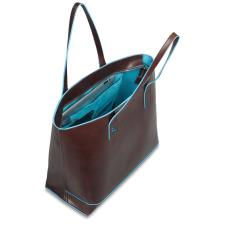 Piquadro Shopping bag Blue Square in pelle sfoderata Mogano