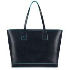 Piquadro Shopping bag Blue Square in pelle sfoderata Nera