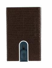 PIQUADRO Sophia Compact Wallet Slider RFID Bronzo Lizard Metal