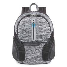 Piquadro Zainetto Coleos con placca USB e micro-USB Grigio