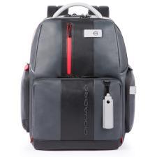 Piquadro Zaino fast-check porta PC e iPad® con antifurto, Grigio - Nero