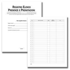 Registro Elenco Presenze e Prenotazioni - 24 pagg - F.to 31x24,5 cm.