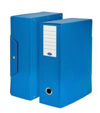 Scatola progetti con bottone  Dorso 10 cm 35x25 cm blu