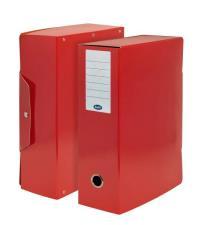 Scatola progetti con bottone  Dorso 10 cm 35x25 cm Rosso