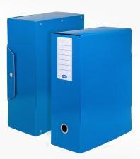Scatola progetti con bottone Dorso 12 cm 35x25 Blu