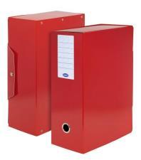 Scatola progetti con bottone Dorso 12 cm 35x25 Rosso