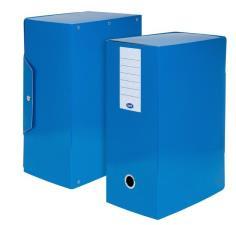 Scatola progetti con bottone Dorso 15 cm 35x25  Blu