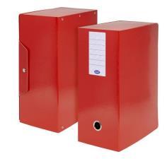 Scatola progetti con bottone Dorso 15 cm 35x25  rosso