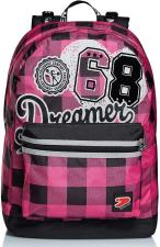 SEVEN Zaino The Double - College Girl -Reversibile -Fuxia