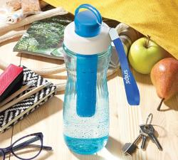 Snips Bottiglia in Tritan con ghiaccio 0,75 lt Trasparente-Blu
