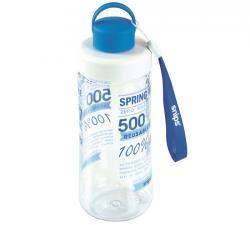 Snips Bottiglia in Tritan SPRING WATER 0,50 L Trasparente-Celeste