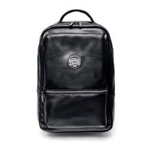 Spalding & Bros Zaino in eco pelle Square Backpack Play Off con zip doppio scorrimento Nero