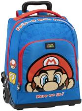 Super Mario Bros - Zaino-Trolley Organizzato Blu