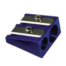 Temperamatite in metallo 2 fori blu Buffetti