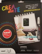 Uni Chalk Lavagna Adesiva Sagomata con Marcatore a Gesso liquido Bianco