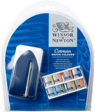 Winsor & Newton Cotman Set Mini Plus 8 X 1-2 Godet + Mini Pennello